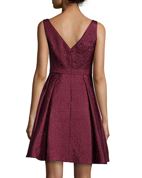 Coco Sleeveless V-Neck Fit & Flare Dress