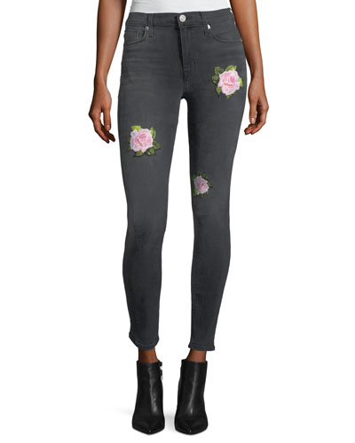 Nico Mid-Rise Distressed Skinny Ankle Jeans, Dissension