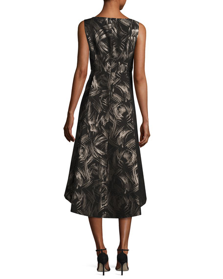 Juliana Sleeveless High-Low Hem Spark-Print Dress, Multi, Plus Size
