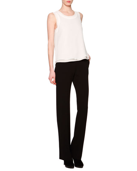 Boot-Cut Double-Faced Pants