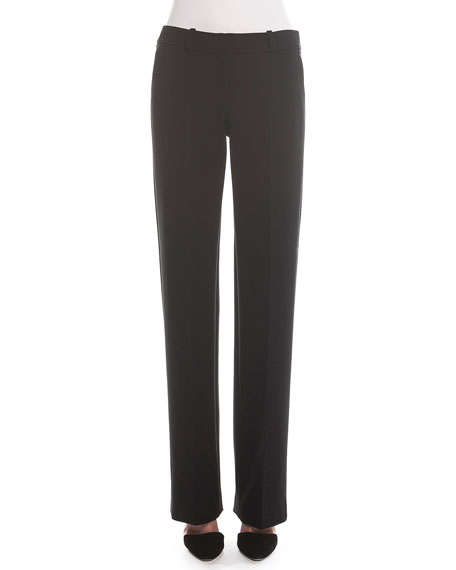 Giorgio Armani Boot-Cut Double-Faced Pants