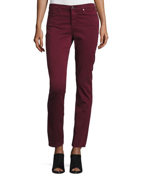 AG Prima Mid-Rise Cigarette Jeans, Wine