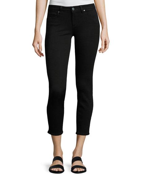 PAIGE Verdugo Crop Mid-Rise Skinny Jeans, Black