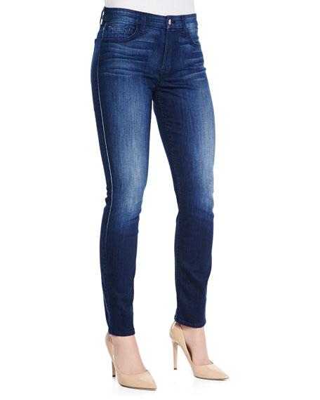 JEN7 Skinny Denim Jeans, Medium Indigo