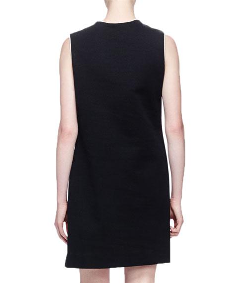 Geometric Sleeveless Shift Dress