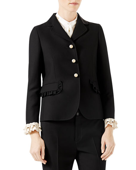 Gucci Silk-Wool Jacket and Matching Items & Matching