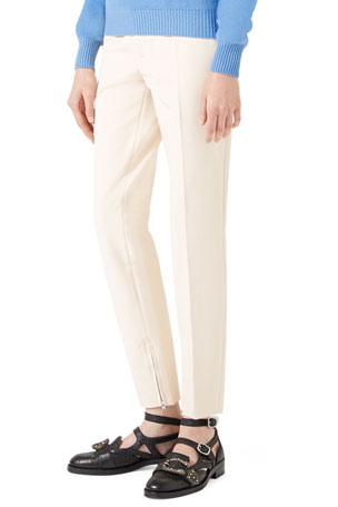 Gucci Cotton Stretch Leggings, Cream
