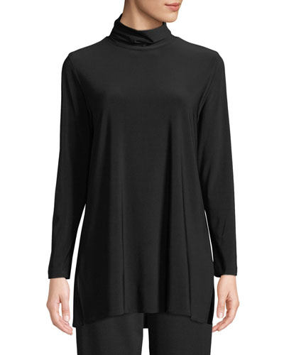 Long-Sleeve Knit Turtleneck, Plus Size
