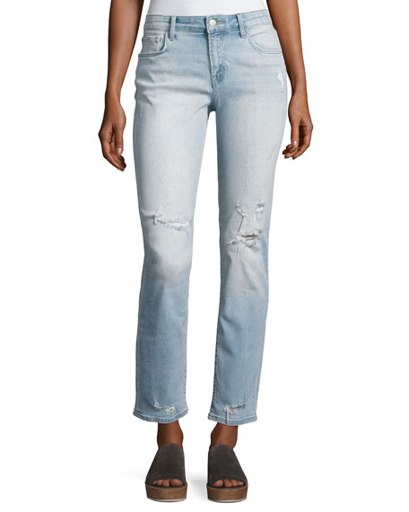 J Brand Amelia Decoy Mid-Rise Straight-Leg Jeans, Medium