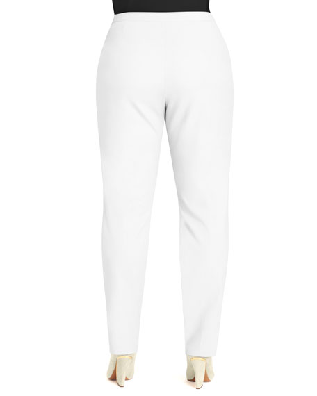 Crepe Slim Ankle Pants, Women's