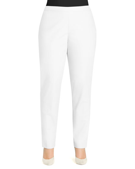 Crepe Slim Ankle Pants, Plus Size