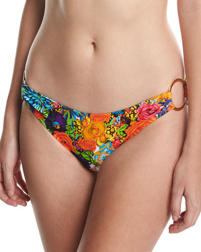 Barbados Floral-Print Swim Bottom