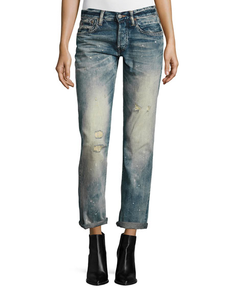 Ralph Lauren Collection 320 Boyfriend Jeans, Blue