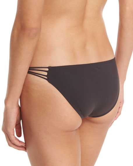 Amber Beaded Strappy Swim Bottom, Brown