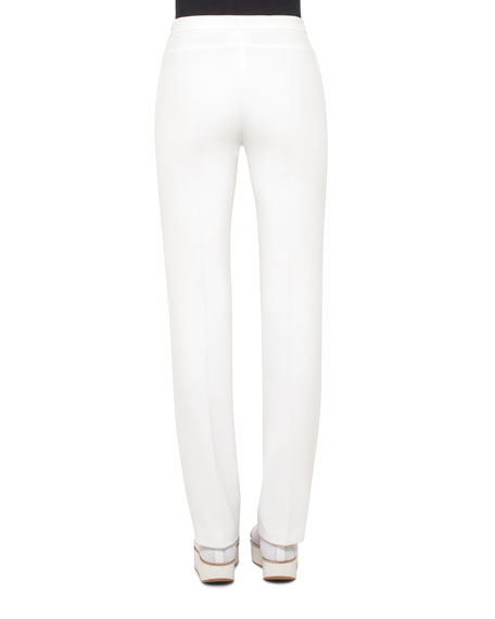 Francoise Techno Stretch Pants, Cream