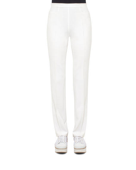 Akris punto Francoise Techno Stretch Pants, Cream