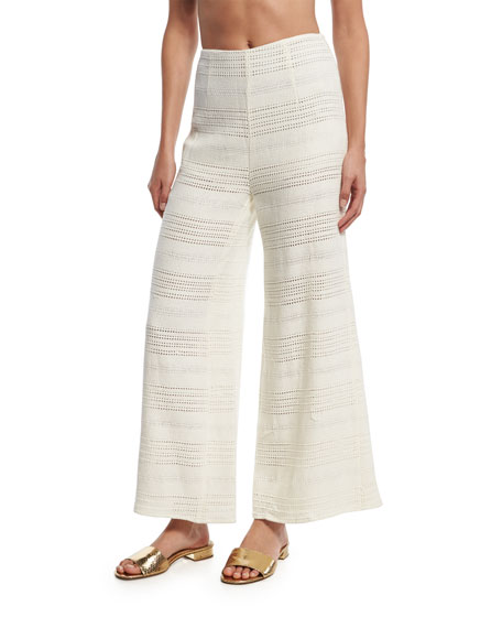 Mara Hoffman Crochet Wide-Leg Coverup Pants