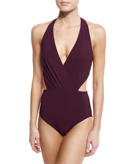 Karla Colletto Basics Halter Monokini Swimsuit