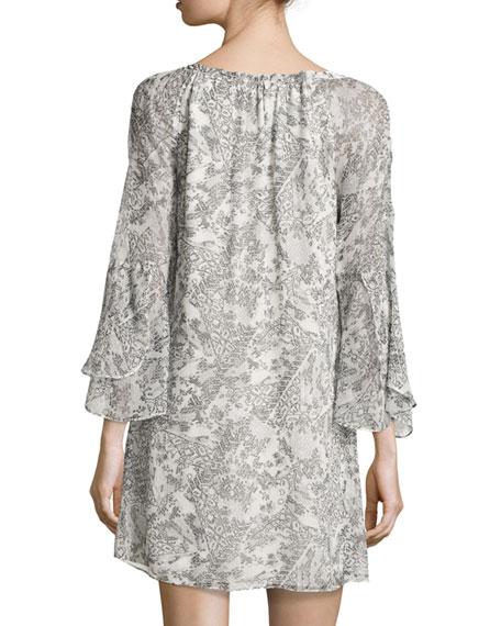 Ruby Printed Silk Shift Dress
