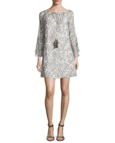 Ramy Brook Ruby Printed Silk Shift Dress