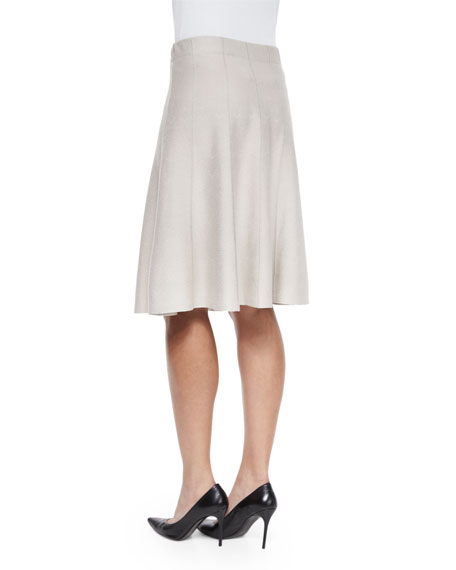 Paneled Twirl Skirt, Silver Cloud, Petite