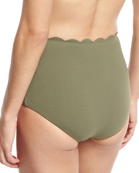 Palm Springs High-Waist Swim Bikini Bottom, Off White