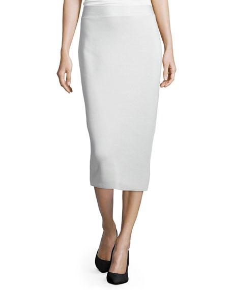Eileen Fisher Silk Organic Cotton Interlock Pencil Skirt,