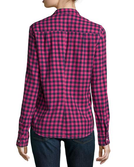 Barry Long-Sleeve Check-Print Shirt, Red Multi