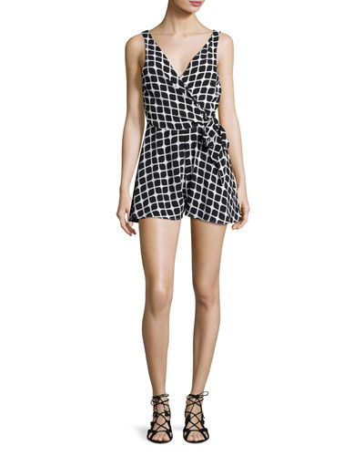Check Me Out Wrap-Front Romper