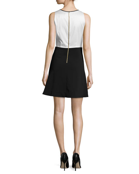 Agnes Two-Tone Cocktail Dress