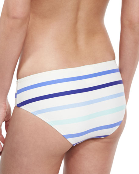 provincetown striped hipster swim bottom