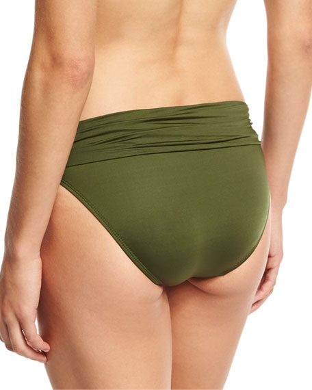 Convertible-Waist Swim Bottom, Green