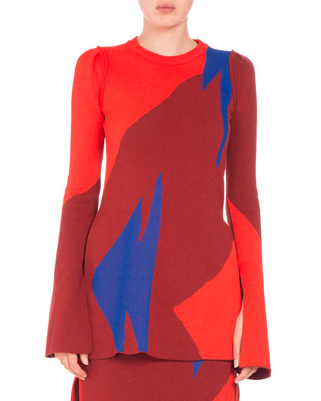 Proenza Schouler Broken Triangle Jacquard Top