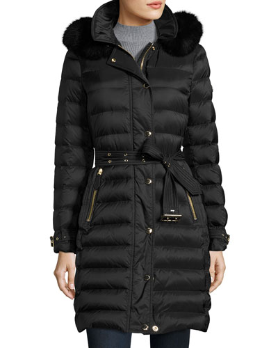 Black Coat White Fur Collar