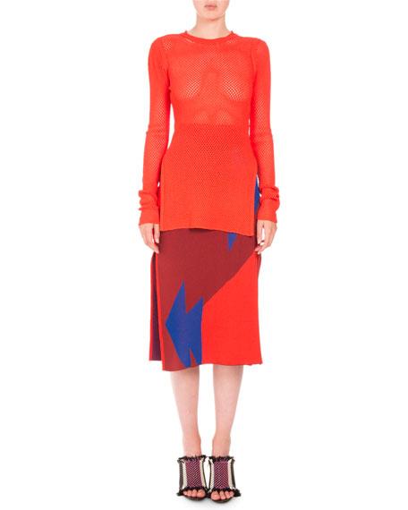Broken Triangle Jacquard Skirt