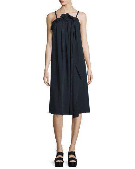 3.1 Phillip Lim Silk Picot-Trim Shift Dress, Phantom