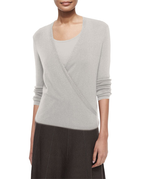NIC+ZOE 4-Way Lightweight Cardigan, Silver Cloud, Petite
