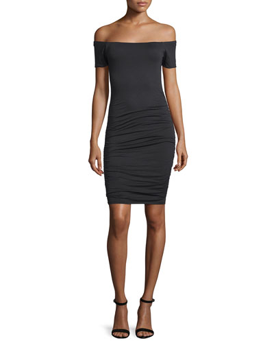 Mora Off-The-Shoulder Knit Sheath Dress