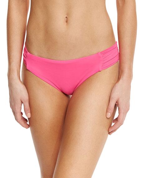 Gypsy Shirred-Side Hipster Swim Bikini Bottom