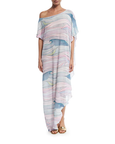 Wave Gauze Coverup Maxi Dress