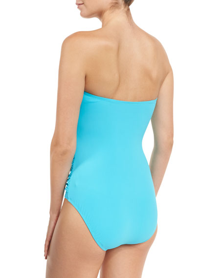 Tutti Frutti Bandeau One-Piece Swimsuit, Available in D Cup