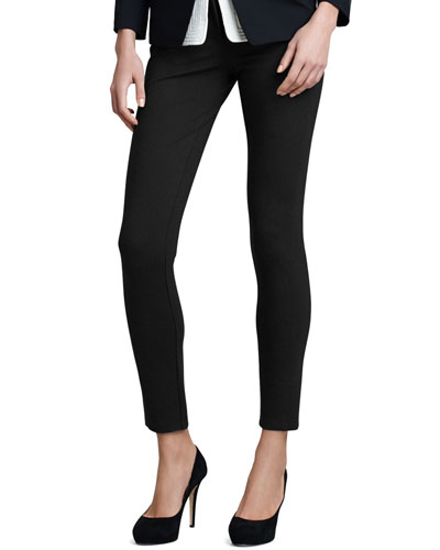 Double-Faced Jersey Leggings, Black