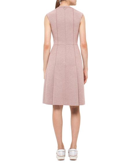 Keyhole Sleeveless A-Line Dress