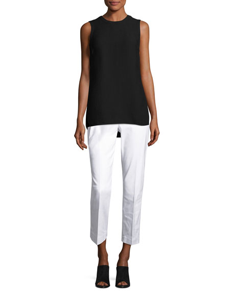 NIC+ZOE The Perfect Front-Zip Ankle Pants, Paper White