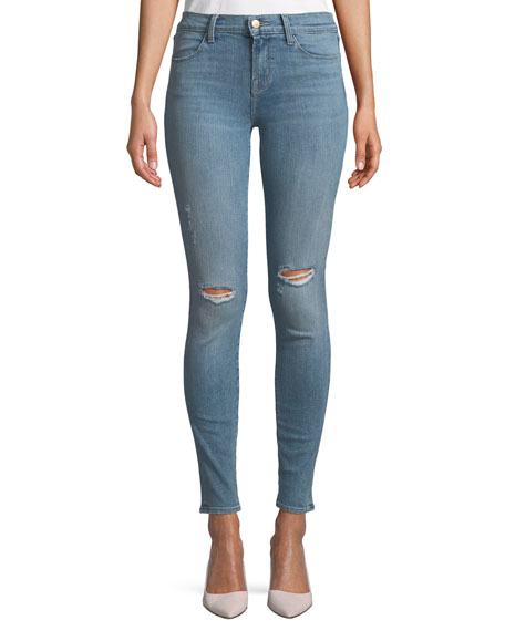 J Brand 620 Mid-Rise Super Skinny-Leg Jeans