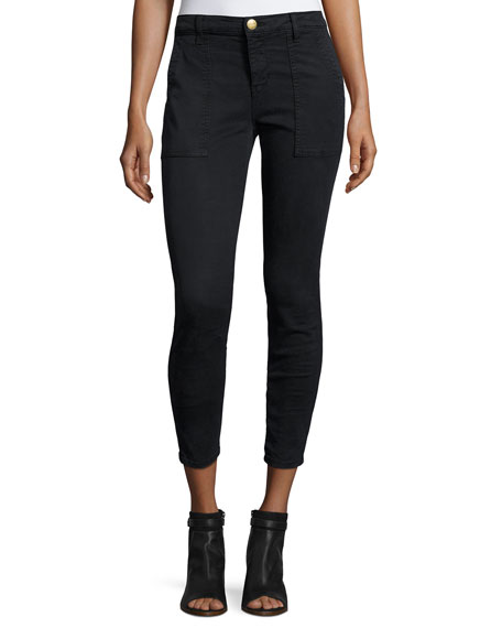 Current/Elliott The Station Agent Cropped Skinny Jeans, Washed