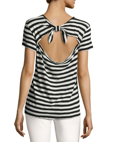 Cotton Tie-Back T-Shirt