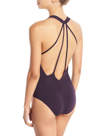 Illuminate Plunge-Neck One-Piece Swimsuit