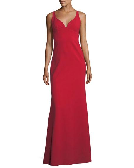 Jill Jill Stuart Sleeveless Crepe Faux Sweetheart Gown,
