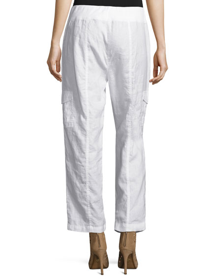 Organic Linen Ankle Pants, Petite